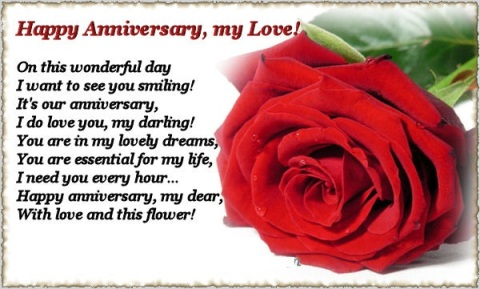 Anniversary Messages For Girlfriend with Images, Pictures Photos Download