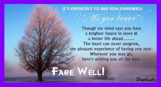 Best Farewell Wishes Quotes, Thoughts, Sayings Pictures ...