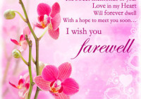 Farewell Messages - Best Wishes Messages - Latest SMS ...