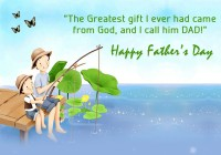 Thanks God for Best Dad, Happy Father's Day 2015 Quotes Wallpapers