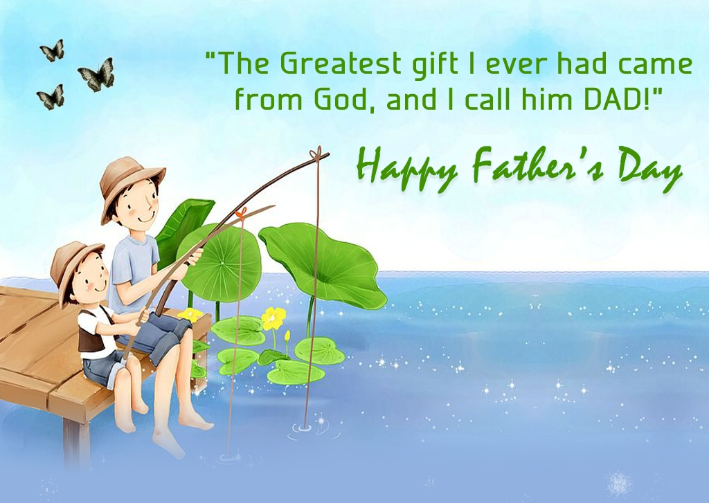 Thanks God for Best Dad, Happy Father's Day 2017 Quotes Wallpapers