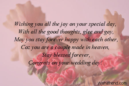 Wishing You Happy Wedding Greetings Card Thoughts, Sayings Images, Wallpapers