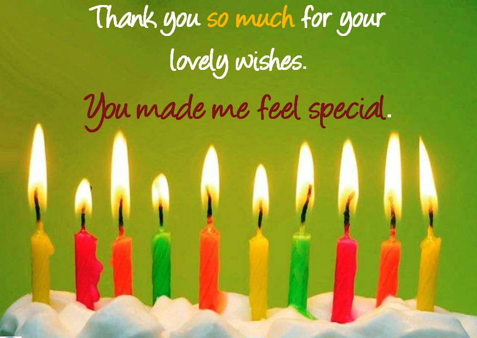 Lovely Thanks You for Birthday Wishes Images, Wallpapers, Photos Pictures Download