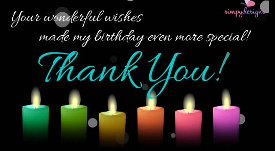 Thank You for Birthday Wishes Messages Images, Wallpapers, Photos, Pictures Download