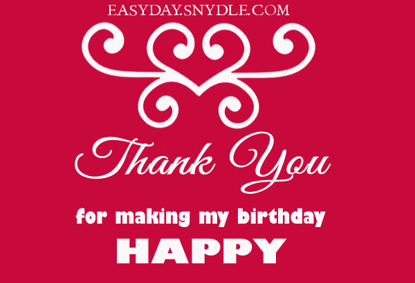 Thank you for making my birthday special Images Wallpapers – Thanks for the Birthday Greeting