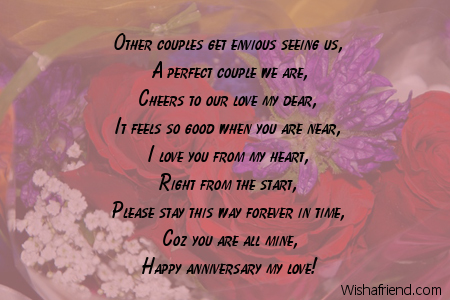 Wedding Anniversary Card messages for friends Images