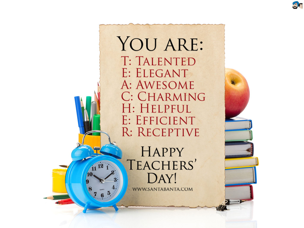 FULL FORM of TEACHER - Happy Teachers Day Greetings Images