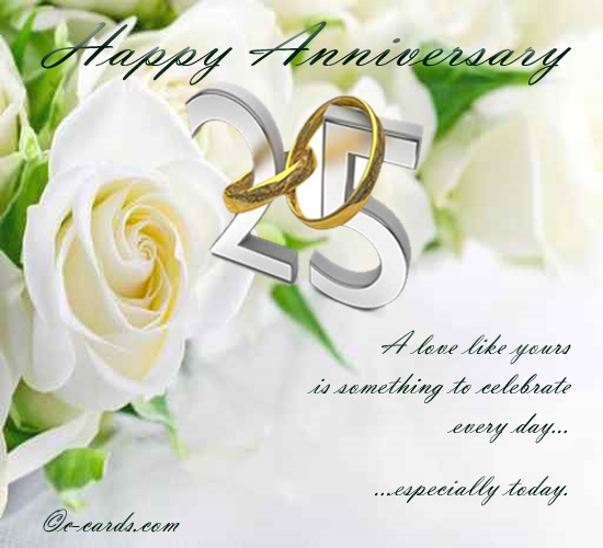 Silver Wedding Anniversary - 25th Anniversary Wishes Images Quotes Wallpapers