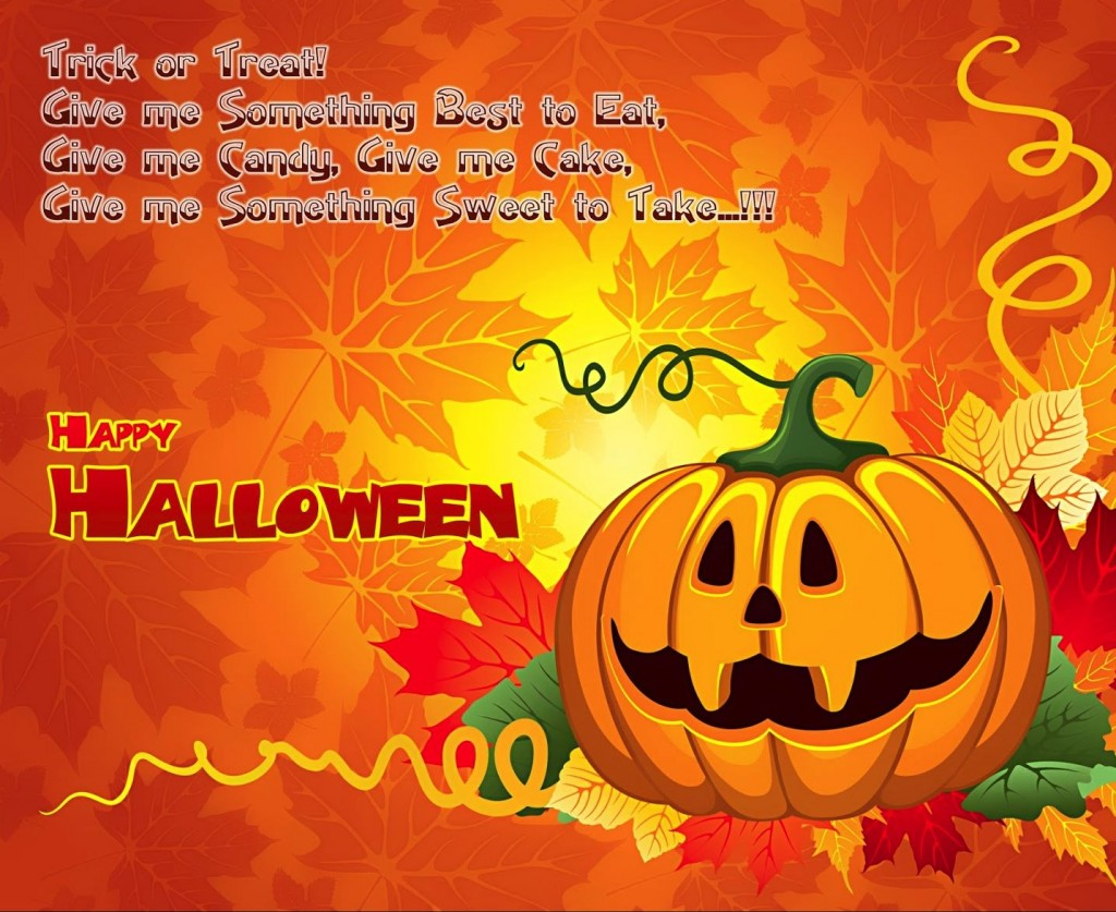 Happy Halloween Trick or Treat Greetings Wallpapers