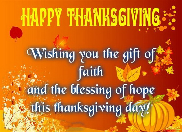 Wishing You Happy Thanksgiving Day 2018