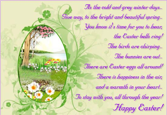 Beautiful Easter Poem Free Poems Quotes eCards Greeting Cards for Easter 2018