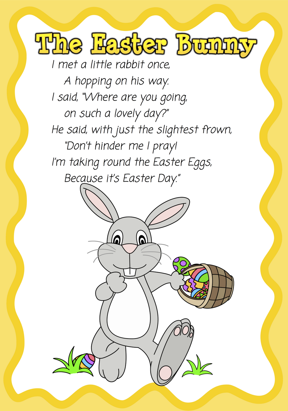 Easter Bunny Poems and Poetry Pictures Images Wallpapers